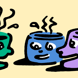 talking coffee cups